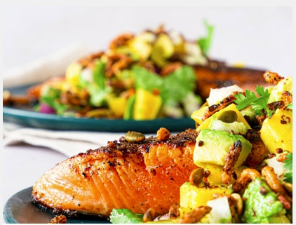 Blackened Ora King with Avo Mango Salsa – on Ora website by This Little Goat (2)