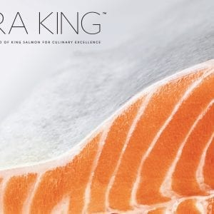 Ora Salmon fillet with logo and tag line