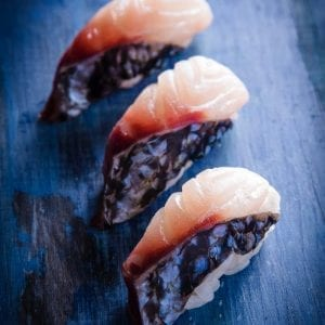 Sushi pic striped bass Pacifico