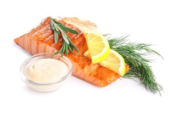 portion salmon cooked beauty pic – shutterstock