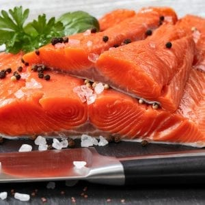 Wild King Salmon portions – shutterstock