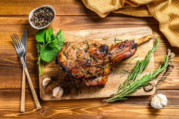 Leg of lamb_bone in – overhead Shutterstock smaller pic