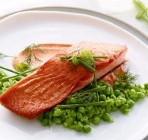Roasted Ocean Trout with crushed peas MCU