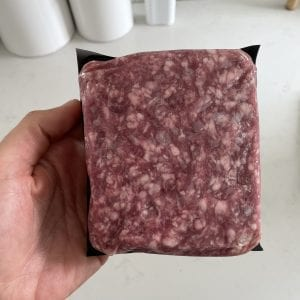 Ground Lamb – overhead front of pack