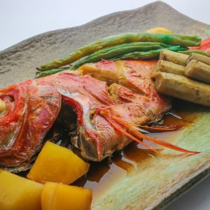 Simmered,Red,Snapper